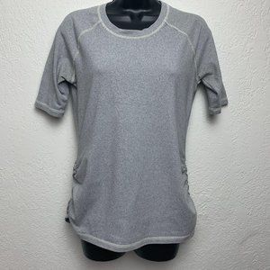 Lucy Running T-Shirt Top M Athletic Workout Stripe
